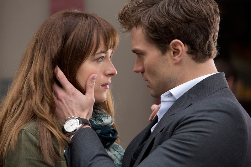 Dakota Johnson and James Dornan star in Fifty Shades of Grey Chuck Zlotnick—Universal Pictures