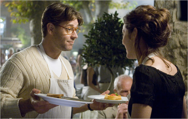 """Russell Crowe and Marion Cotillard in """"A Good Year."""" Credit Rico Torres/20th Century Fox"""