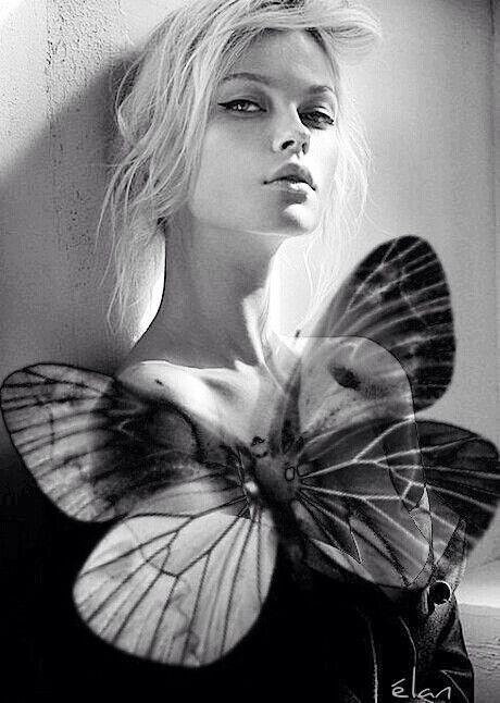 femeie fluture