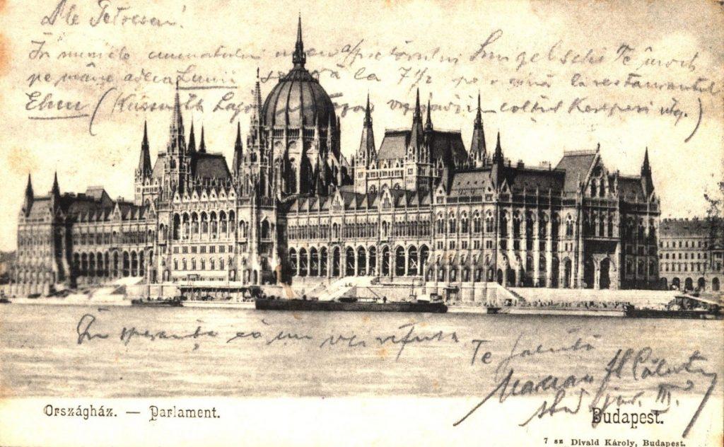 Budapesta, clădirea Parlamentului, 1903