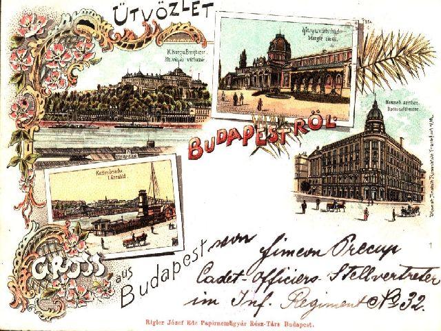 ilustrata din Budapesta din anul 1898