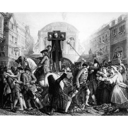 Daniel Defoe in the pillory_1862 line engraving_by James Charles